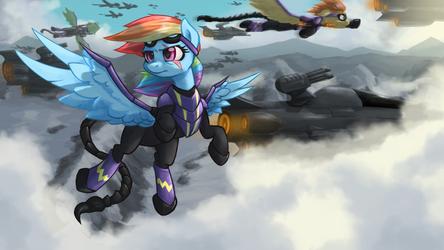 Rainbow Dash - MoA (Fallout: Equestria) by DarkSittich