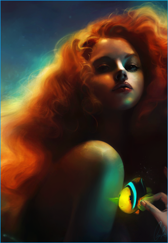 Ariel and Flounder by meirou