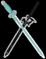 Asuna and Kirito Sword - Lembent Light+Elucidator by CyclesofShadows