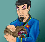 Mirror Spock and pet tribble by Phoenix-Cry
