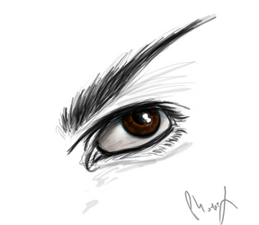 Speedpainting: Vulcan eye by Phoenix-Cry
