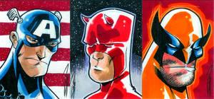 Marvel Heroes Sketch Cards 1.0 by RandySiplon