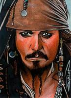 Captain Jack Sketch Card 2 by RandySiplon