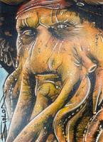 Davy Jones Sketch Card by RandySiplon