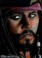 Jack Sparrow Sketch Card by RandySiplon