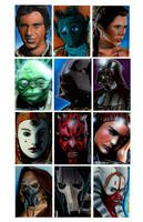 Star Wars Sketch Cards 2 by RandySiplon