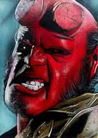 Hellboy Movie Sketch Card 2 by RandySiplon
