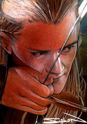 Legolas Sketch Card 4 by RandySiplon