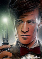 Doctor Who Sketch Card by RandySiplon