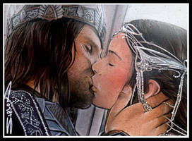 Aragorn Arwen Kiss by RandySiplon