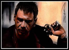 Blade Runner Sketch Card 2 by RandySiplon