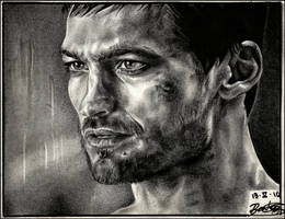 Andy Whitfield-SPARTACUS- by ladarkfemme