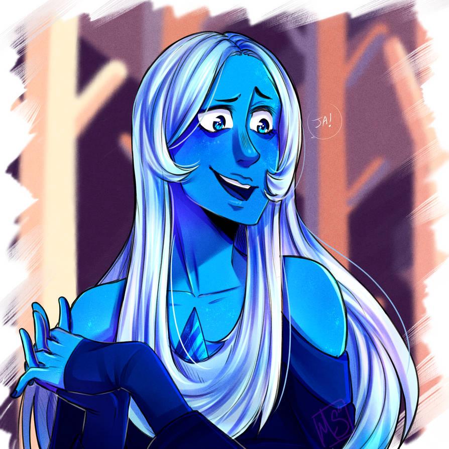 Rediseño de una de las escenas del nuevo promo de SU Diamante azul y Garnet