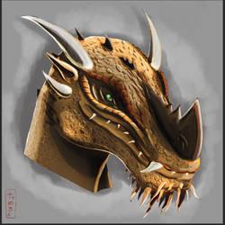 Dragon-born Headshot Design by TheAngryAron