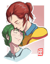 Happy :)   OC's Kara and Robyn by TheAngryAron