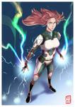 Rage Mode!   OC Kara by TheAngryAron
