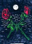 Psychic Roses by WhiteBoneDemon
