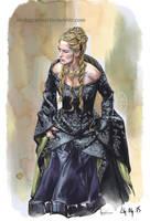 Cersei Lannister Speed Paint by zerda-vulpes