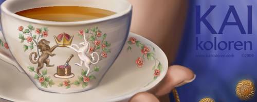 More Tea? - Details 1 by Kaikoloren