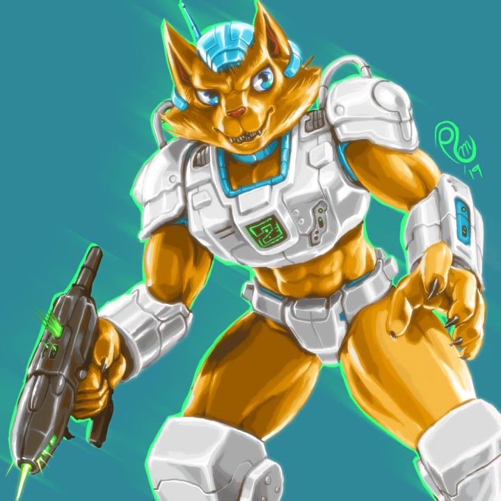 Battle Beast Fox by EyeOfVogler