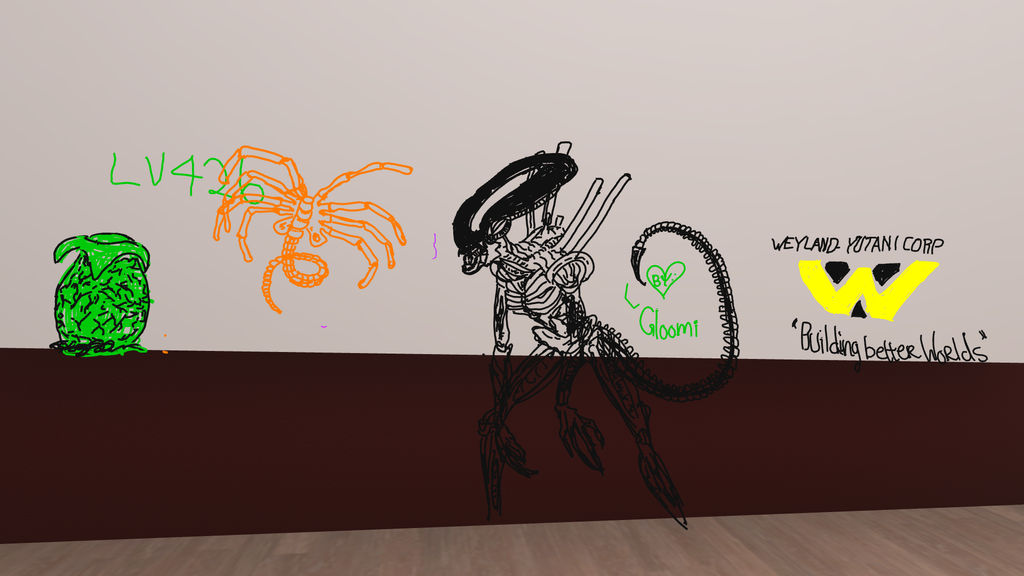 Vrchat doodles. by gloomichan