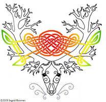 Green Deer by Illahie