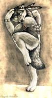Dancing Spiritwolf by Illahie
