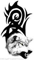 Wolf tattoo by Illahie