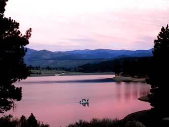 Pink Lake by X-Ray-Dog