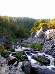 Indian Falls, CA Upstream by X-Ray-Dog