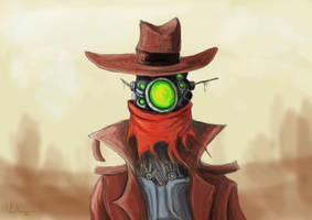 Robot Cowboy by dontforgettheeye