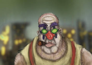 Rough guy Clown by dontforgettheeye