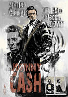 Johnny Cash poster by vitorgorino