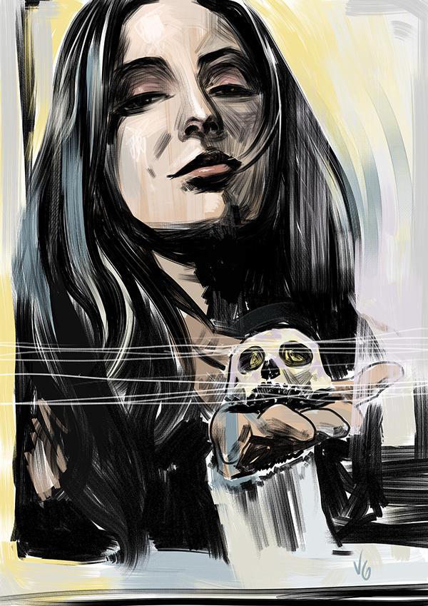 Julie's portrait by vitorgorino