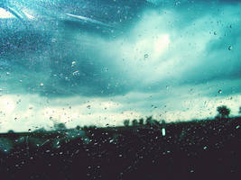 raindrops in the car-window by HIDR0GENLANY