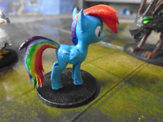 Rainbow Dash Miniature by TrotskytheHellSteed