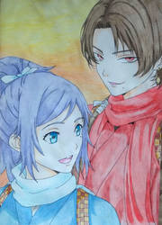Yamato no Kami Yasusada and Kashuu Kiyomitsu by Ethel106