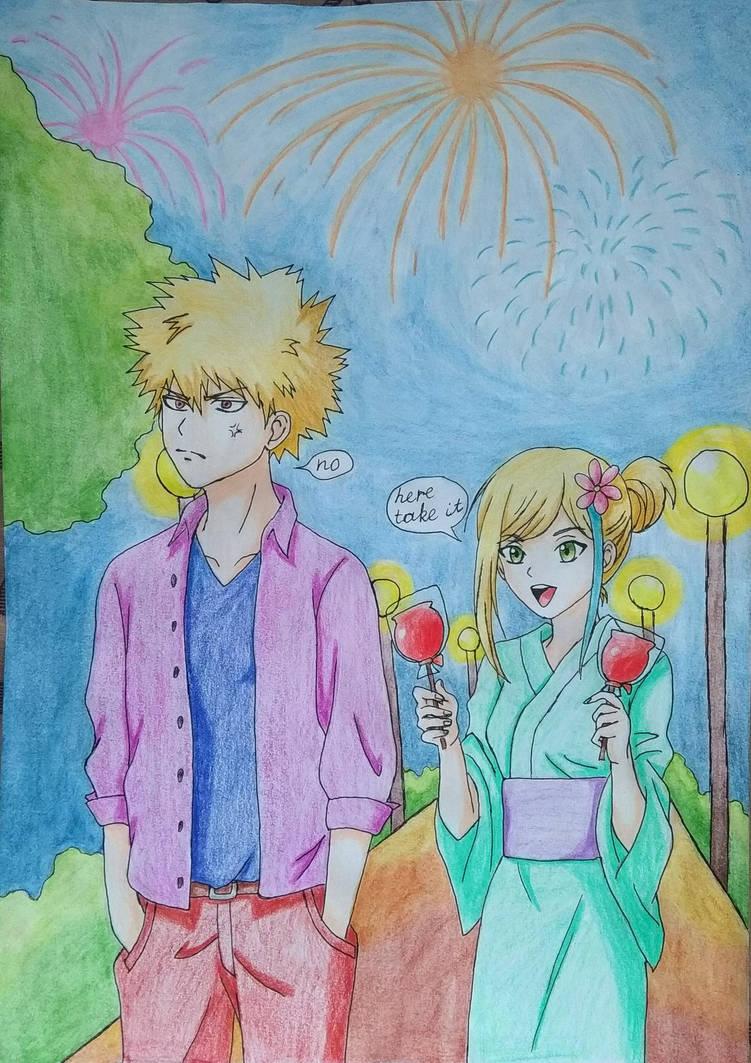 Bakugou and Yuzu by Ethel106