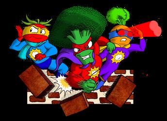 Super Veggie Clipart (Color) by kenisu3000