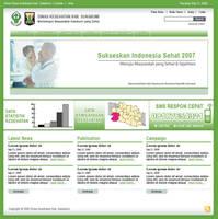 Dinkes Sukabumi Web Design by astayoga