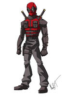 Deadpool redesign by MaroBot