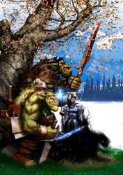 Trolls and witch by pardoart