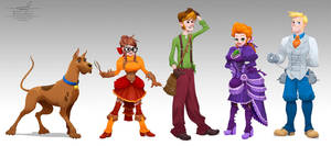 Victorian Scooby-Doo Concept Art by pardoart