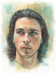 Christian Bale (watercolor) by Trunnec