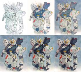 Nu Gundam Step by Step by Trunnec