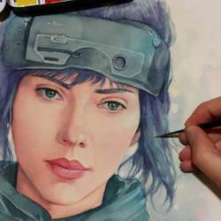 Scarlett Johansson (Motoko Kusanagi) WIP by Trunnec