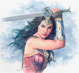 Wonder Woman watercolor by Trunnec