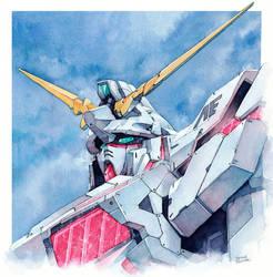 Rx-0 Unicorn Gundam by Trunnec