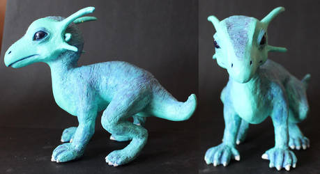 Baby Dragon Hatchling Sculpture by VileGuardian