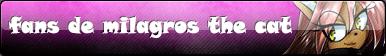 button fans de milagros the cat by lapop83
